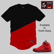 Wholesale Elongated Essential Youth Tee to match Jordan 5 Red Suede from china suppliers