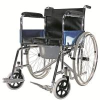 Buy cheap Chromed Portable Commode Wheelchair from wholesalers