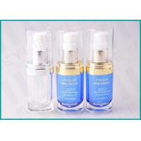 Wholesale 20 ML Oval Shape PMMA Acrylic Lotion Pump Bottle For Cosmetic Essence from china suppliers