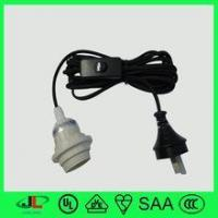 Wholesale SAA approved salt lamp socket Australia 2 pin plug with 303 switch and E27 lamp holder from china suppliers