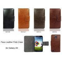 Wholesale Faux Leather Folio Case for Galaxy S4 from china suppliers