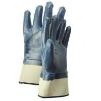 nitrile full coated safety cuff gloves for sale