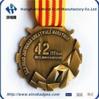 Wholesale Beautiful Brass, 3D Mountains 42KM Marathon Medal from china suppliers