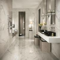 China Good Quality Bush Hammered Antique Calacatta White Marble and Gold Marble Floor Tile 600X600MM on sale