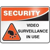 China 'Video Surveillance' Security Sign on sale
