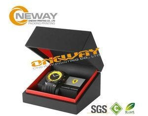 Quality Customized Men'S Style Watch Packaging Box With Hot Stamping Gold Logo for sale