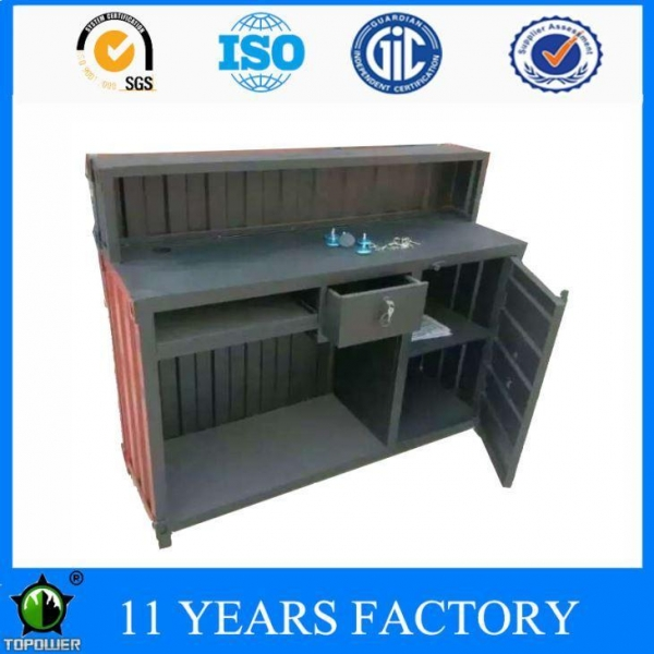 Quality Metal Multifunctional Painting Office Garage Storage Cabinets with Display Shelf and Doors for sale