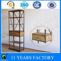 Wholesale Industrial Vintage Look Artcraft Natural Wood Home Or Office Us Storage Bookshelf with one Drawer from china suppliers