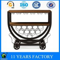 Wholesale Metal Industrial Fashion Design Moveable 2 Shelves Boated Cart with Industrial Wheels from china suppliers