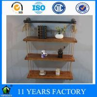 Wholesale Three Tier 92cm Wide Vintage Rope and Pipe Home Deco Boockshelves from china suppliers