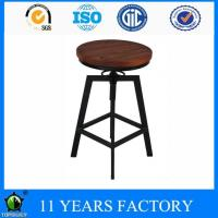 Wholesale Metal Black Height Adjustable Swivel Indoor and Outdoor Bar Stools on Sale from china suppliers