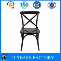 Wholesale High Quality French X Cross Back Colored Restaurant Metal Dining Chair from china suppliers
