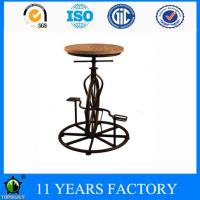 Wholesale Industrial Pinewood Or Upholstered Round Seat Adjustable Height Bar Stool with Pedal from china suppliers