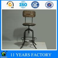 Wholesale Industrial Metal Extra Tall Bar Stool with Pu Seat and Pinewood Back Rest from china suppliers