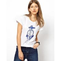 Buy cheap Custom New Design 100% Cotton Ladies T Shirts from wholesalers