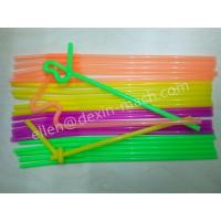 China 5.8X260MM Curved PP Plastic Art Straws for Pubs on sale