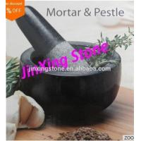Wholesale Hot Sale Cheap Black Mortar&Pestle Granite Natural Stone Factory Direct from china suppliers