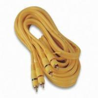 2 RCA Male/2 RCA Male Audio Video Cables with Gold Plating and 5 + 2 + 5mm Outer Diameter