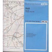 Wholesale 1955 1:25 000 Ordnance Survey Map- 'Holt (Norfolk) inc. Melton Constable etc. from china suppliers
