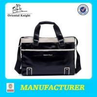 China Custom high quality men's leather briefcase leather strap on sale