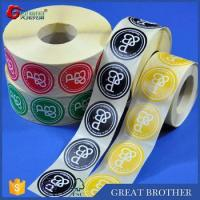 Rolls of labels and stickers for custom printing,round shape stickers