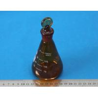 Wholesale Amber Glass Erlenmeyer Flask brown Triangular flask with stopper from china suppliers
