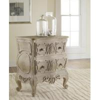 Wholesale Chests & Dressers Carved French Bow Nightchest in Weathered Solids from china suppliers