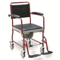 Wholesale #JL6922  Foldable Commode Wheelchair With Flip Down Armrests & Detachable Footrests from china suppliers