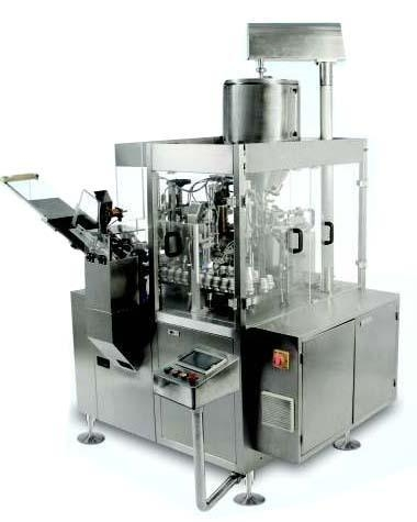 Quality fully automatic, single head, fully enclosed GMP model type tube filling and sealing machine. for sale