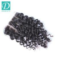 Wholesale 7a Grade Brazilian deep wave three Part hair closure piece from china suppliers