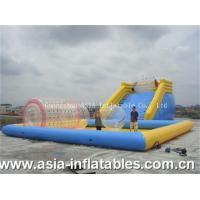 Wholesale Inflatable Zorbing Ramp Inflatable Zorb Ramp and Water Pool Combo from china suppliers