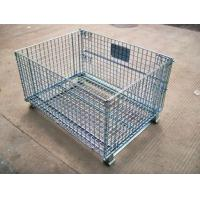 Wholesale Heavy Duty Galvanized Foldable Wire Mesh Pallet Cage With Cold Drawn Steel from china suppliers