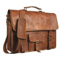 Wholesale Shakun Leather Men's Genuine Vintage Brown Leather Messenger Shoulder Laptop bag Briefcase NEW from china suppliers