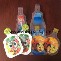 Wholesale Disposable plastic juice packing bag special bottle shape drinking water pouch bag from china suppliers