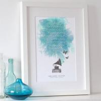 Wholesale Personalised Song Lyrics Print from china suppliers