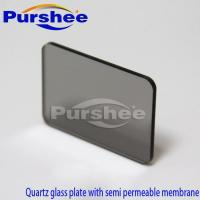 Wholesale Quartz glass plate with semi permeable membrane from china suppliers