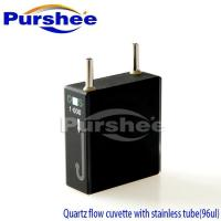 Quartz flow cuvette with stainless tube(96ul)