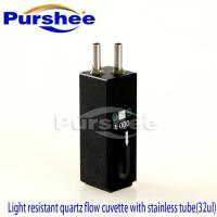 Wholesale Light resistant quartz flow cuvette with stainless tube(32ul) from china suppliers
