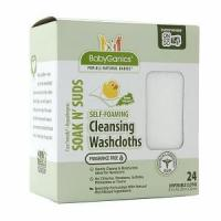 Buy cheap BabyGanics Soakin' Suds Disposible Washcloths, Fragrance Free from wholesalers