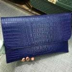 Best genuine leather croco texture clutch bag with detachable should strap wholesale