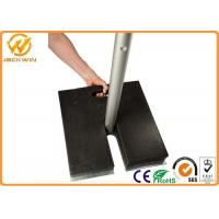 Wholesale Recycled Rubber Sign Pedestal Base , 20 lbs Heavy Duty Black Pedestal Stand from china suppliers