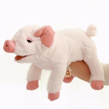 Quality Custom Logo Stuffed Pig Puppet toy of CE Standard for sale