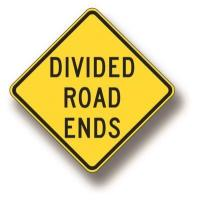 Wholesale Divided road ends sign W6-2B from china suppliers