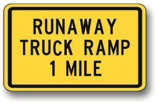 Quality Runaway truck ramp sign W7-4 for sale