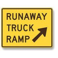 Wholesale Runaway truck ramp sign W7-4B from china suppliers