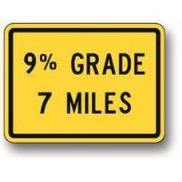 Wholesale Percentage grade number miles hill sign W7-3B from china suppliers