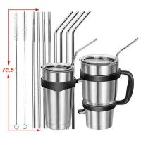 Wholesale Stainless Steel Drinking Straws, Set of 4, Free Cleaning Brush Included from china suppliers