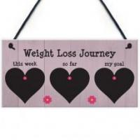 Wholesale FOAM PLAQUE - 200X100 - Chalkboard Weight Loss Journey Flowers from china suppliers