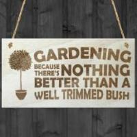 Wholesale WOODEN PLAQUE - 200x100 - Gardening - Well Trimmed Bush from china suppliers