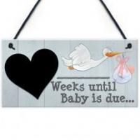 Wholesale FOAM PLAQUE - 200X100 - Chalkboard Weeks Until Baby Scribble from china suppliers